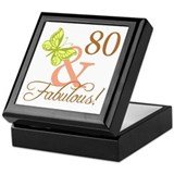 80 & Fabulous (Autumn) Keepsake Box