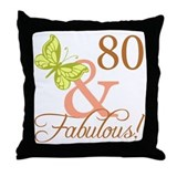 80 & Fabulous (Autumn) Throw Pillow