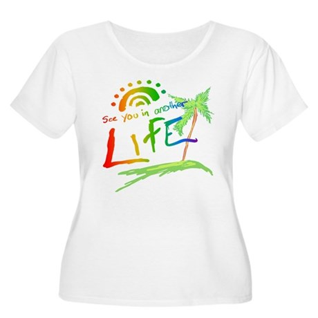 Another Life LOST Womens Plus Size Scoop Neck T-S