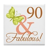 90 & Fabulous (Autumn) Tile Coaster
