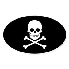 Pirate Flag vinyl sticker (Oval)