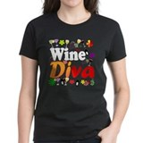 Wine Diva (Orange Flowers) Tee