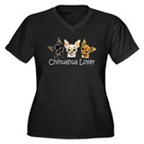 Smooth Chihuahua Lover Women's Plus Size V-Neck Da