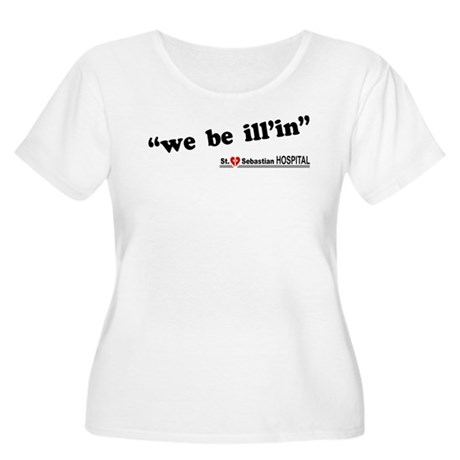 We Be Ill'in LOST Womens Plus Size Scoop Neck T-S