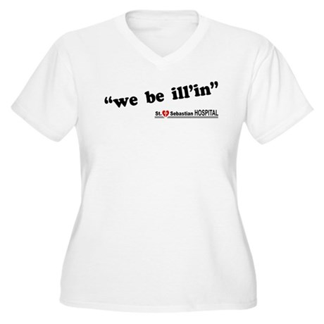 We Be Ill'in LOST Womens Plus Size V-Neck Shirt