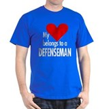 My heart, defenseman Black T-Shirt