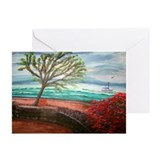 """Terrace on The Wharf"" Greeting Cards (Package of"