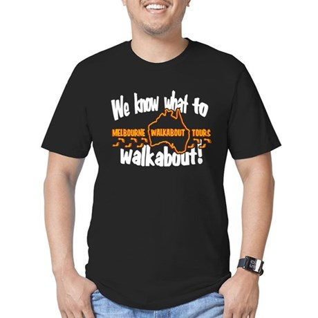 Walkabout Tours LOST Black Mens Fitted Dark T-Shirt