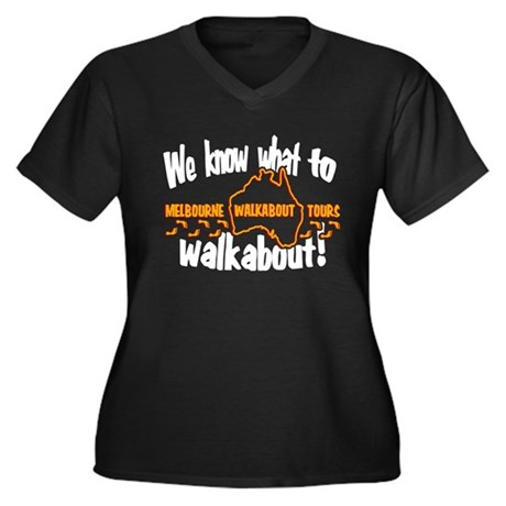 Walkabout Tours LOST Black Womens Plus Size V-Nec