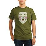 Guy Fawkes Organic Men's T-Shirt (dark)