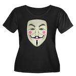 Guy Fawkes Women's Plus Size Scoop Neck Dark T-Shi