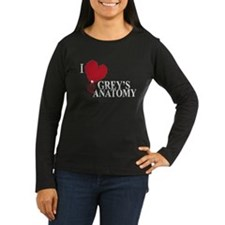I Love Grey's Anatomy Women's Long Sleeve Dark T-S