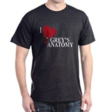 I Love Grey's Anatomy Dark T-Shirt