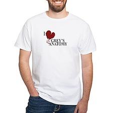 I Love Grey's Anatomy White T-Shirt