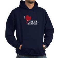 I Love Grey's Anatomy Hoodie (dark)