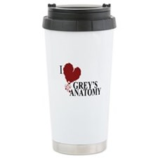 I Love Grey's Anatomy Ceramic Travel Mug