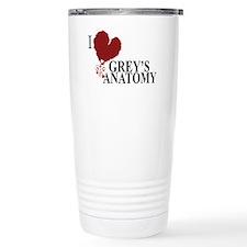 I Love Grey's Anatomy Stainless Steel Travel Mug