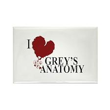 I Love Grey's Anatomy Rectangle Magnet