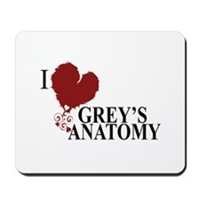 I Love Grey's Anatomy Mousepad