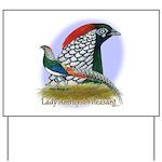 Lady Amherst Pheasant Yard Sign