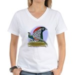 Lady Amherst Pheasant Women's V-Neck T-Shirt