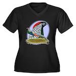 Lady Amherst Pheasant Women's Plus Size V-Neck Dar