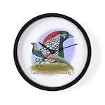 Lady Amherst Pheasant Wall Clock