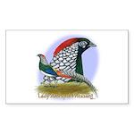 Lady Amherst Pheasant Sticker (Rectangle 50 pk)
