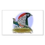 Lady Amherst Pheasant Sticker (Rectangle 10 pk)
