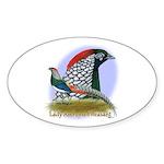 Lady Amherst Pheasant Sticker (Oval 50 pk)