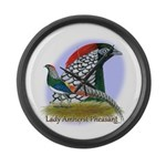 Lady Amherst Pheasant Large Wall Clock