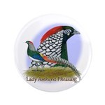 """Lady Amherst Pheasant 3.5"""" Button (100 pack)"""