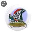 """Lady Amherst Pheasant 3.5"""" Button (10 pack)"""