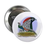 """Lady Amherst Pheasant 2.25"""" Button"""