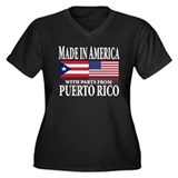 Puerto RICAN Women's Plus Size V-Neck Dark T-Shirt