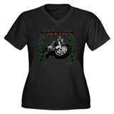 valkyrie rider gear Women's Plus Size V-Neck Dark