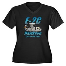 E-2 Hawkeye Women's Plus Size V-Neck Dark T-Shirt