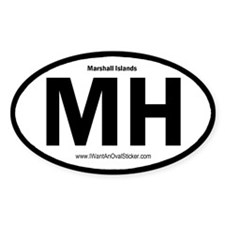 Marshall Islands Oval Decal