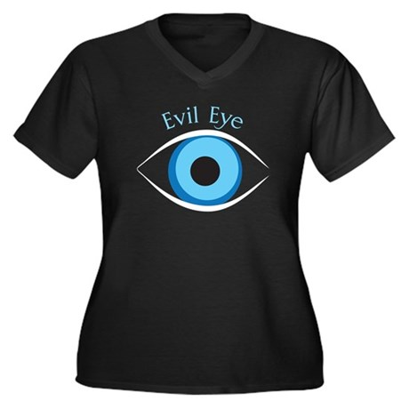 Evil Eye Women's Plus Size V-Neck Dark T-Shirt