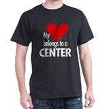 Heart belongs, center Black T-Shirt