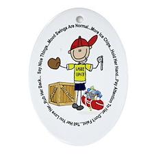 Labor Coach Ornament (Oval)
