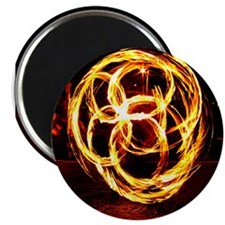 "Spinning Fire - Celtic Knot 2.25"" Magnet (100 pack"