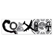 Lost Coexist Bumper Sticker