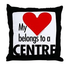 Heart belongs, centre Throw Pillow