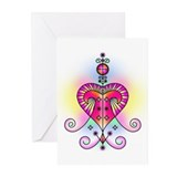 Voodoo Erzulie Veve Greeting Cards (Pk of 10)