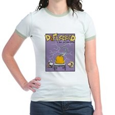 Deflocked Pumpkin Jr. Ringer T-Shirt