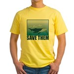 Save The Whales Yellow T-Shirt