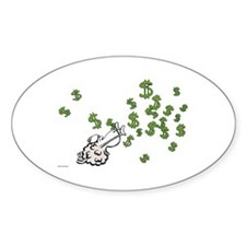 Mamet Money Sticker (Oval)