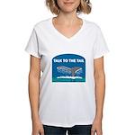 Whale Women's V-Neck T-Shirt