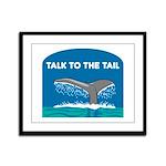Whale Framed Panel Print
